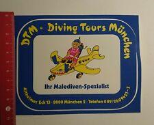 Aufkleber/Sticker: Dtm Diving Tours München ihr Malediven Spezialist (2311163)