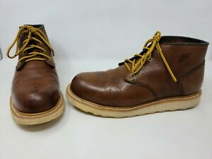 RED WING HERITAGE 2596 STEEL TOE WORK CHUKKA BOOT BROWN LEATHER MENS SIZE 12 D