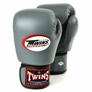 Twins BGVL-3 Leather Boxing Gloves Grey boxing Sparring Kickboxing Muay Thai