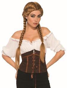 Brown Braided Oktoberfest Beer Garden Girl Wig