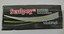 SCULPEY III - Polymer Clay - 454g - Large Block - BLACK