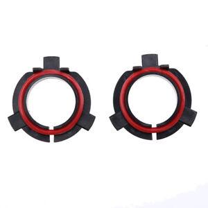 Set H7 LED Headlight Bulb Adapter Holder Socket Base Retainer Fit Kia Mitsubishi