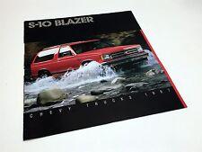 1987 Chevrolet S-10 Blazer Brochure USA