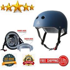 Skateboarding Helmet Sweatsaver BMX and Roller Skating Navy Rubber Large X-Large