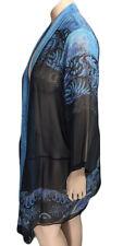 DRESSORI Large Silk Paisley Print Duster Jacket L *  Originally $198 NWT