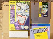 Batman: Return of the Joker - Complete In Box, CIB (Nintendo,NES) Clean Pins