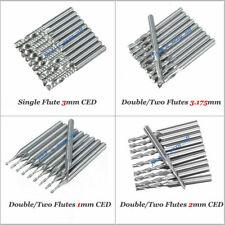 HOT!! end mill carbide single 1 flute two 2 flutes cnc router bits tool 10 pcs