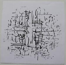 BRAM BOGART (1921-2012) : COMPOSITION ABSTRAITE , DESSIN ENCRE , 1989 , SIGNÉE.