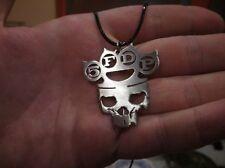 5FDP - Five Finger Death Punch - Knuckle Logo - Metal Key Chain Necklace Pendant