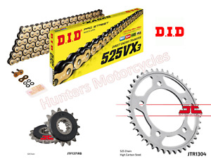 DID Gold X-Ring Chain and JT Quiet Sprocket Kit for Honda CB600 Hornet 2001