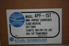 Atlas Soundolier 15 Watt Horn Driver -- APF-15T Brand New In Box