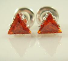 925 Silver Plated Fashion Unisex Zircon Rhinestone Ear Stud Earrings Jewelry cH2