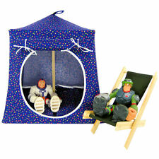 Dark purple, polka dot Toy Play Pop Up Camping Tent, 2 Sleeping Bags, handmade