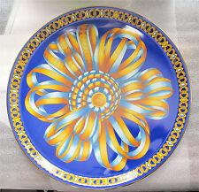 "Hermes porcelain tray, large platter COCARDE DE SOIE superb French china 12 1/4"""