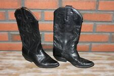Nine West Cowboy Boots, Women's Size 6M, Black leather, broken in