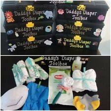 Daddy's Diaper Cake Toolbox Girl
