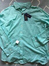 POLO RALPH LAUREN Solid GREEN Button Up Cotton/Linen SHIRT sz XXL NWT Ret. $145