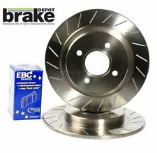 Ford Sierra Cosworth 2WD Rear Grooved Brake Discs EBC Redstuff Pads