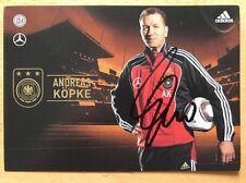 Andreas Köpke 1. AK DFB 2010 Autogrammkarte original signiert