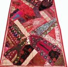 """33% OFF 60"""" AUTHENTIC ZARI SARI LACE BEADED VINTAGE DÉCOR TAPESTRY WALL HANGING"""