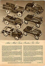 1949 PAPER AD Toy Pedal Car Torpedo Station Wagon Lightning Service Fire Chief