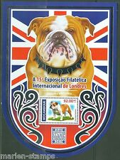 MOZAMBIQUE   2015 BRITSH BULLDOG  LONDON 2015 STAMP EXPO S/S MINT NH