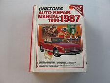 CHILTON'S #7670 AUTO REPAIR MANUAL AMERICAN CARS 1980-1987 (ISBN:0-8019-7670-7)