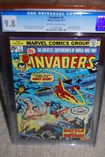 Invaders #1 CGC 9.8 1975 Captain America! Avengers! Look at centering B12 776 cm