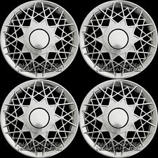 "4 New CHROME Wire Web Spoke 16"" Hub Caps Full Wheel Covers Rim Cover Hubs 150c"