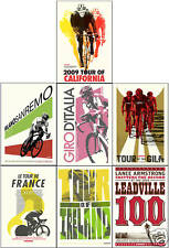 SET OF 7 SRAM LANCE ARMSTRONG COMMEMORATIVE POSTERS