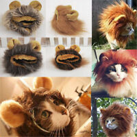 Costume Pet Hat  Furry Lion Mane Wig For Cat Halloween Dress Up With Ears Party