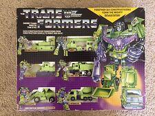 1985 G1 Unused Transformers Devastator Constructicons Decepticon Gift Set Box