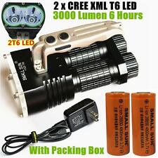 SMAll SUN 3000 Lumen 2x CREE XM-L T6 LED TACTICAL 26650 FLASHLIGHT HAND LAMP T56