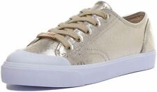 Guess Gitney3 Gold White Womens Synthetic Trainers Shoes