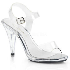 a4c8221b4896 Fabulicious Caress-408 4 Inch Stiletto Heel Ankle Strap Sandal UK 3