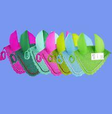 Handmade Crochet Ear Net Fly Veil Bonnet With Piping Pony Cob Full Breathable