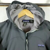 PATAGONIA Size Medium Womens Nylon Gray Full Zip Lined Hooded Jacket Hoodie