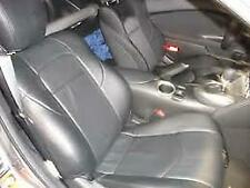 Clazzio Leather Custom Black Seat Covers for Nissan 350Z 2003-2008