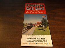 1976 STRASBURG RAIL ROAD TIMETABLE AND BROCHURE