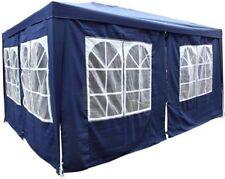 3x4 Pavillon Pavillion Zelt Festzelt Partyzelt Gartenzelt inkl 8Seitenteile Blau
