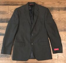 Chaps Blazer Suit Jacket Mens 38 Regular Slim Fit Grey 2 Button Sport Coat NWT