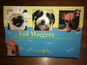 Leanin' Tree Greeting Cards 'Tail Waggers' dog puppy All occasions