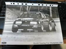 FORD - SIERRA RS 500 RS500 COSWORTH TOURING CAR - PRESS MEDIA PHOTOGRAPH - 1987