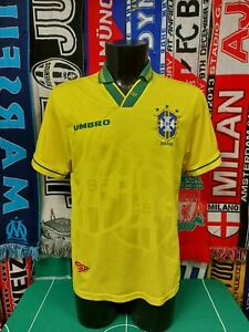 Maglia Calcio Brasile FIFA World Cup 1994 Shirt Trikot Camiseta Maillot Brasil