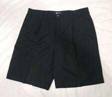 Adidas Golf Mens Black Pleated Athletic Golf Shorts Size 36