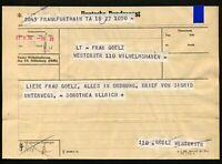 Original-TELEGRAMM ★ 27. Feb. 1956 ★ Deutsche Post • Frankfurt => Wilhelmshaven