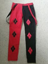 Banned Apparel Harley Quinn Trousers Red Black Goth Punk Emo Cosplay Size Small