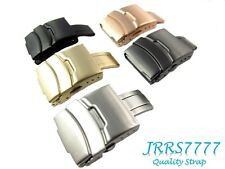 20mm Watch Strap Buckle Stainless Steel Multicolored Brushed Solid Clasp Classic