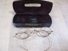 Vintage Gold Rimmed Glasses in Case marked Hodgen & Vent Kokomo Ind >