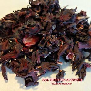 100% ORGANIC Premium Dried Cut Hibiscus Flowers Tea, Jaimaica Tea 1oz - 10 LBS